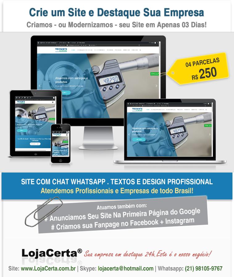 Crie Ou Modernize seu Site - Aproveite Nossa Promocao!