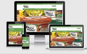 Criação de site para indústria de produtos alimentícios