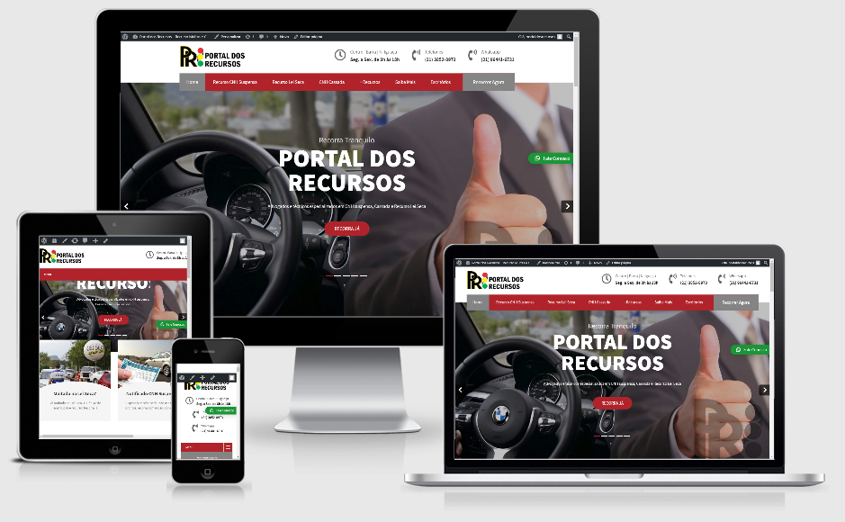 Site Modelo Plus com Vídeo na Home